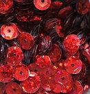 Laserpailletten-5mm-rood