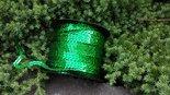 Disco-Paillettenband-groen